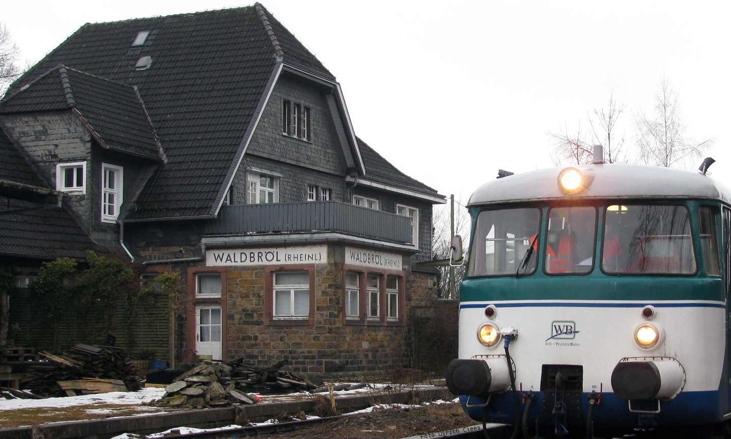 Waldbröl Station in winter 2009/10 (Photo Uli Clees)